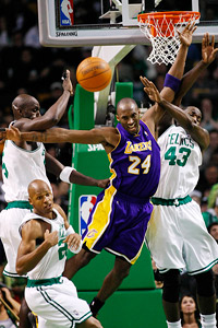 Los Angeles Lakers and Boston Celtics
