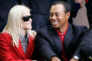 Tiger Woods and Elin Nordegren