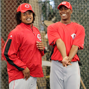 Edinson Volquez and Aroldis Chapman