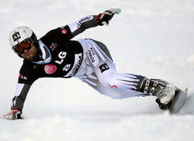 Austria's Andreas Prommegger at the FIS Snowboard World Cup in January, 2010.