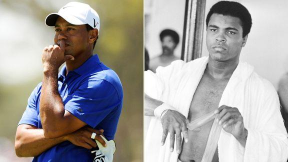 Tiger Woods, Muhammad Ali