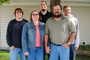 The Becker family, from left: middle son Mark, mother Joan, oldest son Brad, father Dave, youngest son Scott.