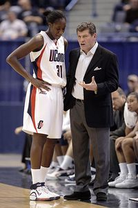 Geno Auriemma and Tina Charles