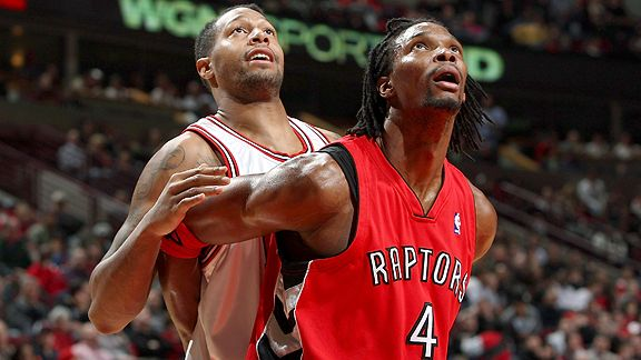 Chris Bosh #4 and James Johnson #16