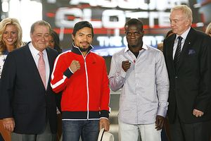 Bob Arum, Manny Pacquiao, Joshua Clottey, Jerry Jones