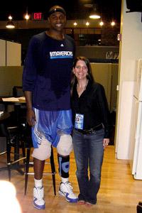 Mavericks center Brendan Haywood and Kelly Webster