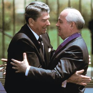 Ronald Reagan and Mikhail Gorbachev