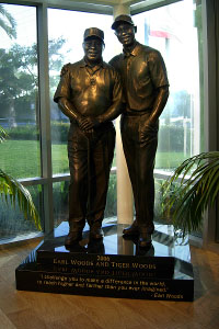 Earl and Tiger Woods Statue