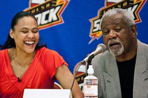 Marion Jones and Nolan Richardson