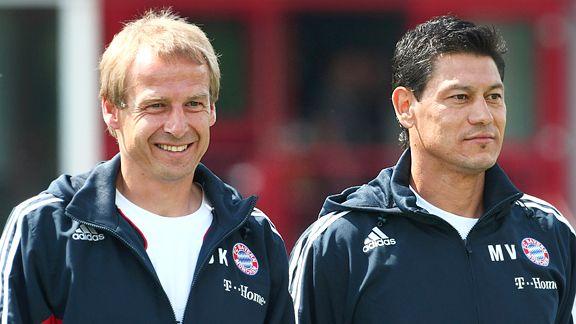 Juergen Klinsmann and Martin Vasquez