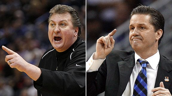 Bob Huggins and John Calipari