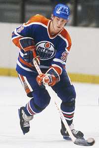 Wayne Gretzky of the Edmonton Oilers