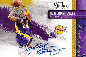 Kobe Bryant (autographed card)