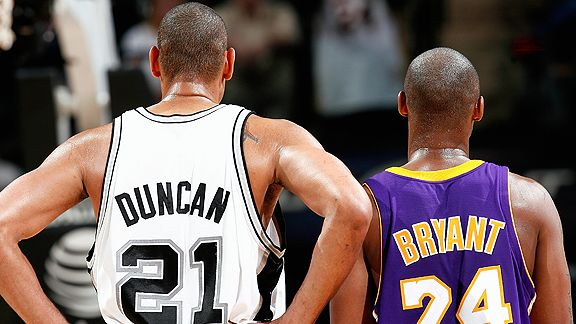 Tim Duncan and Kobe Bryant