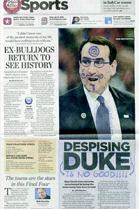 Indy Star Coach K Illustration