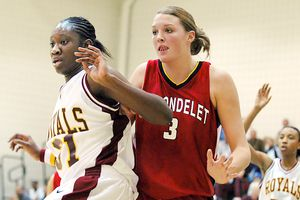 Tina Charles and Jayne Appel