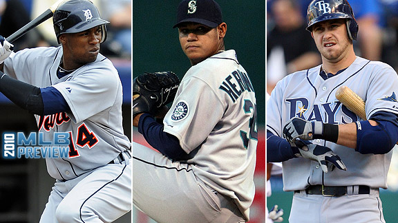 Austin Jackson/Felix Hernandez/Evan Longoria