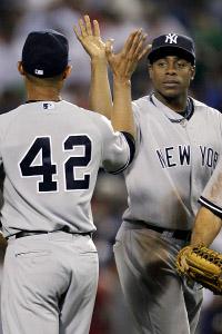 Curtis Granderson & Mariano Rivera