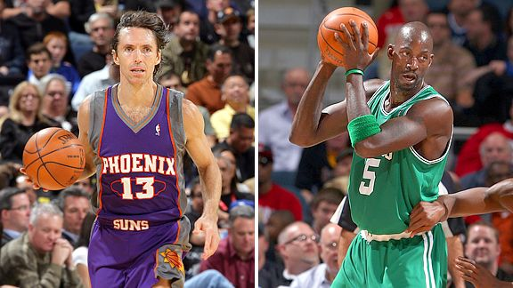 Steve Nash and Kevin Garnett