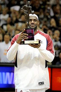 LeBron James MVP Trophy