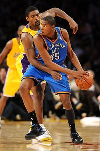 Kevin Durant and Ron Artest