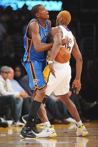 Ron Artest and Kevin Durant