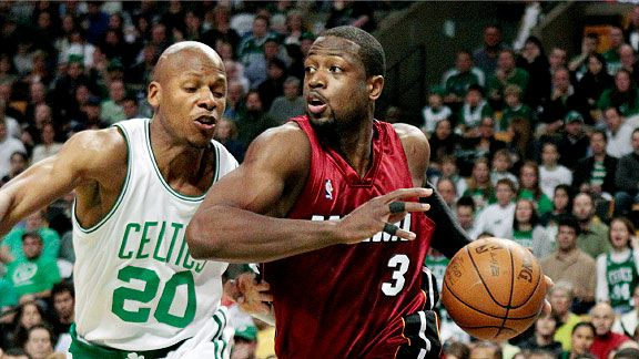 Dwyane Wade and Ray Allen