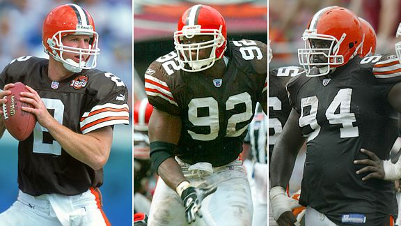 Tim Couch, Courtney Brown, and Gerard Warren