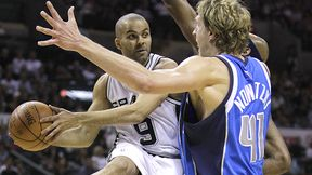 Tony Parker and Dirk Nowitzki