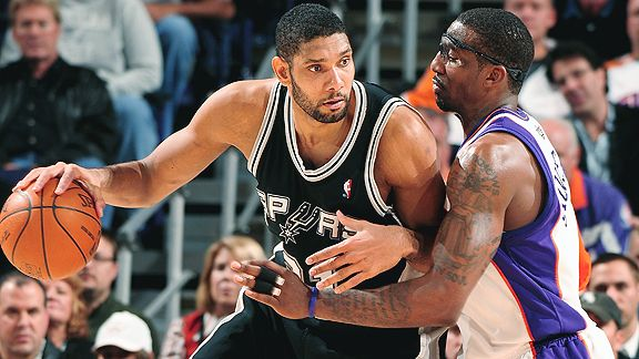 Tim Duncan and Amare Stoudemire