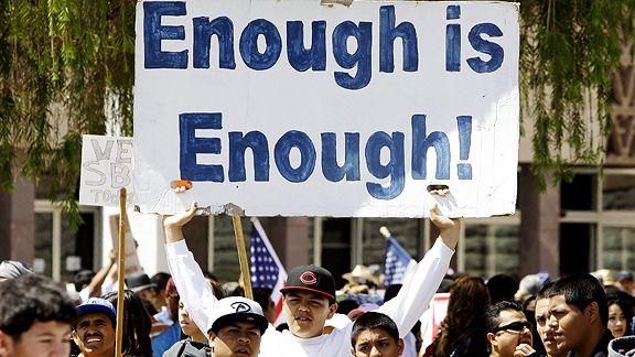 'Enough Is Enough' Sign