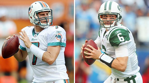 Chad Henne and Mark Sanchez