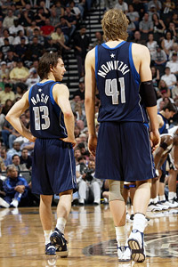 Dirk Nowitzki and Steve Nash
