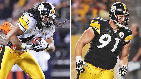 Troy Polamalu and  Aaron Smith