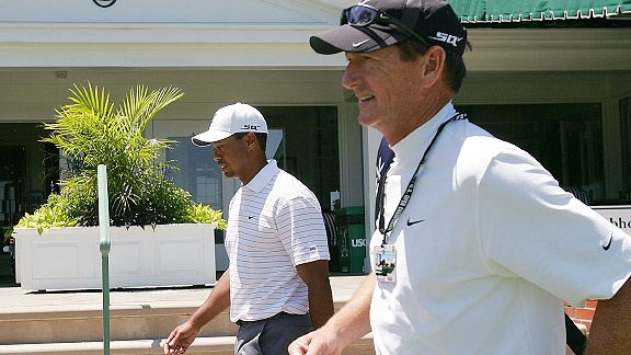 Tiger Woods with Hank Haney