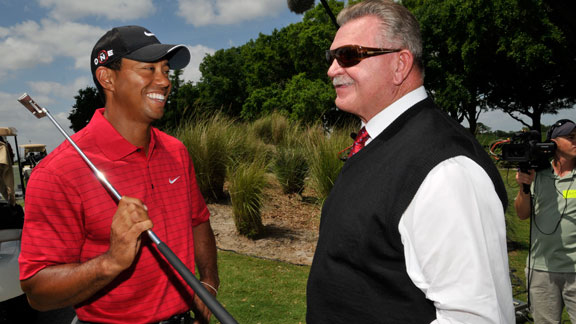 Tiger Woods and Mike Ditka