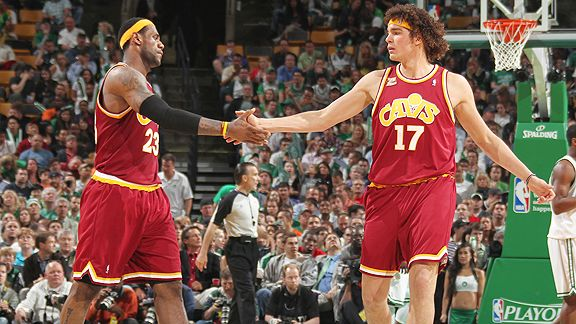 Anderson Varejao and LeBron James