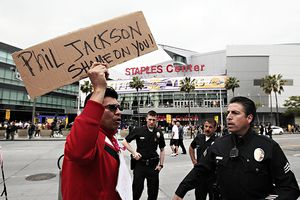 Lakers Protest