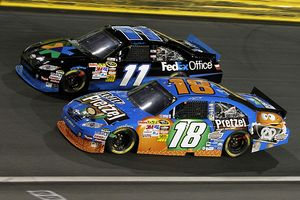 Denny Hamlin and Kyle Busch