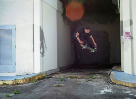 Steve Nesser gets a high five from Todd Bratrud for this pop shove-it.
