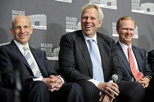 Jonathan Tisch, Steve Tisch and John Mara