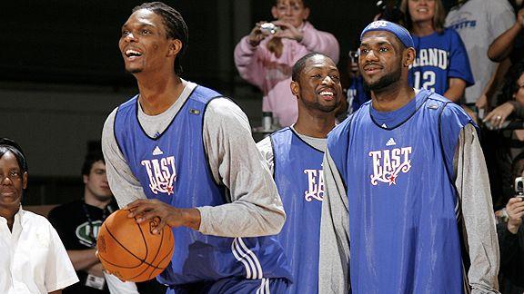 Chris Bosh, Dwyane Wade and LeBron James