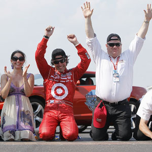 Dario Franchitti, Ashley Judd & Chip Ganassi