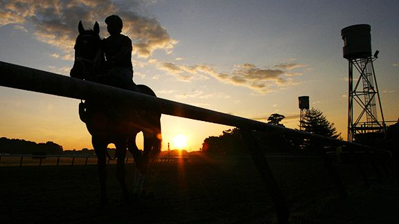 Dawn at Belmont Park in Elmont, N.Y.