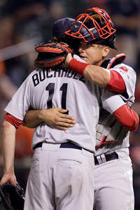 Clay Buchholz and Victor Martinez