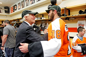 Ed Snider and Mike Richards