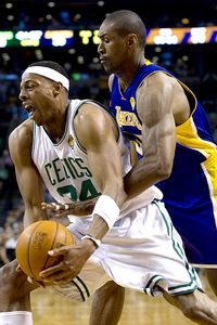 Paul Pierce and Ron Artest