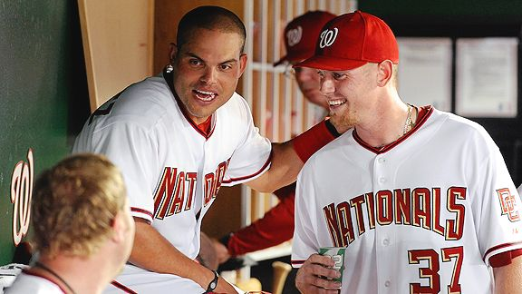Pudge Rodriguez and Stephen Strasburg