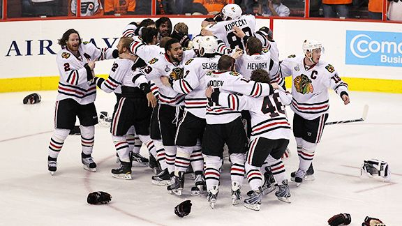 Blackhawks celebrate