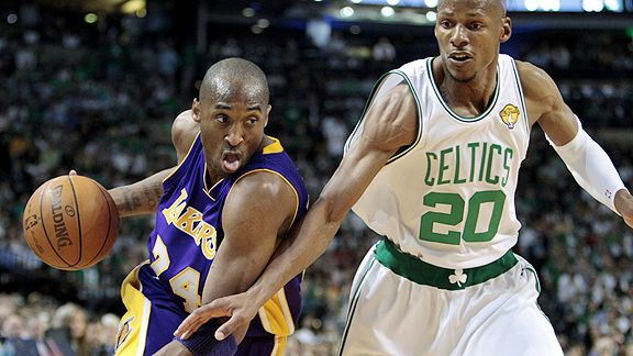 Kobe Bryant and Ray Allen